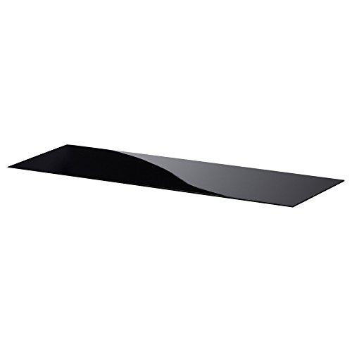 BESTÅ bovenpaneel 120x40 cm glas zwart