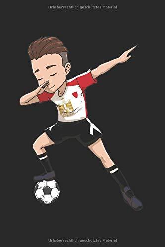 Ägypten Boy Soccer Herrenfussball Fußballer Notizbuch: 120 Seiten Gepunktet