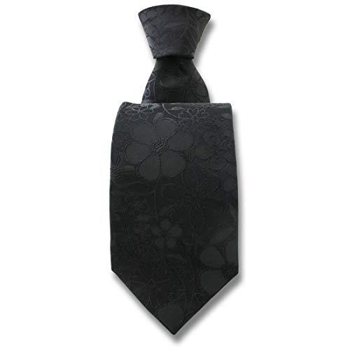 Robert Charles. Cravate. Florence, Soie. Noir, Fantaisie. Fabriqué en Italie.