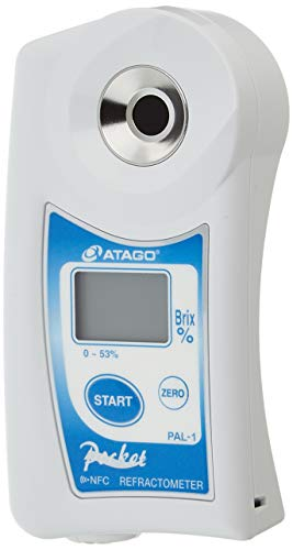 ATAGO PAL-1 0.0-53.0% BRIX, (3810) Digital Hand-HELD Pocket Refractometer