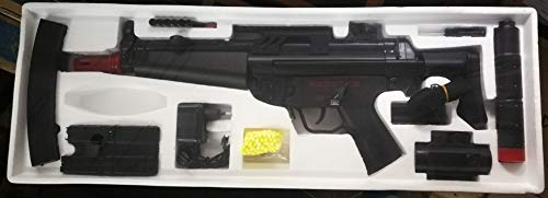 Fucile elettrico da softair Cyma CM023, tipo MP5J, potenza 0,5 joule. Fornito con batteria e caricabatterie. Silenzioso, con punto rosso e caricatore supplementare. Una borraccia da 2.000 pallini 0,12 per Kalachnikov in omaggio.
