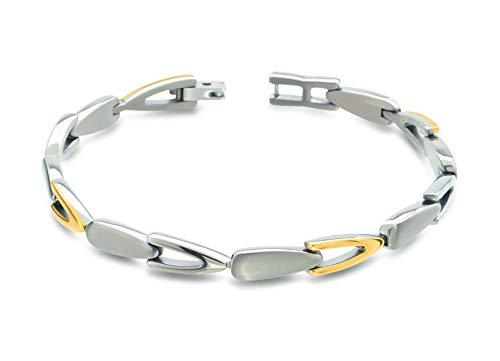 Boccia Titan Damen-Armband Bicolor gold 03033-02
