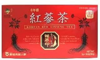 農協高麗人参 6年根 紅蔘茶 (3g×30包) 【栄養機能食品ビタミンC】