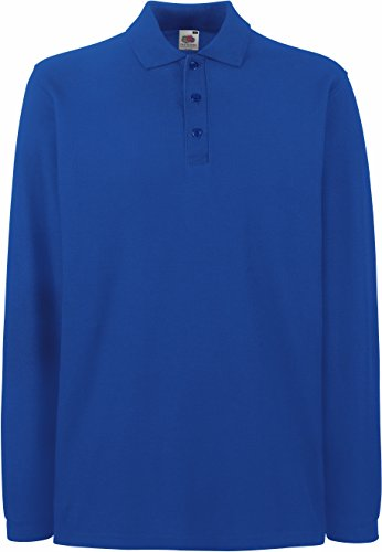 Fruit of the Loom - Premium Longsleeve Polo - Modell 2013 / Royal, XXL XXL,Royal