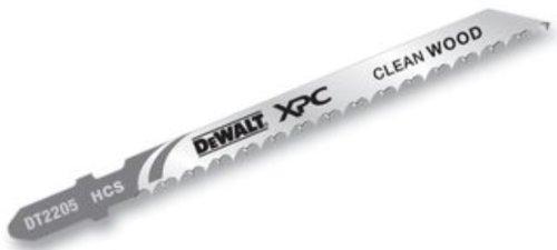 Dewalt DT2205-QZ DT2205-QZ-Hoja de sierra de calar XPC, longitud: 100mm, paso de diente: 2.5mm, para cortes precisos, limpios y rápidos en madera hasta 30mm de espesor, 0 W, 0 V, Set de 5 Piezas