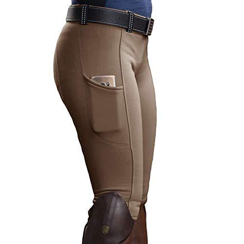 nobranded Edle Reithose Stretch Hüften Damen Freizeithose mit Pockets High Waist Leggings Jogginghose