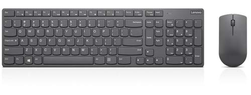 Lenovo Professional Ultraslim Combo - Keyboard and mouse set - wireless - 2.4 GHz - UK English - iron grey - for ThinkCentre M90, ThinkPad P1 (2nd Gen), P73, X1 Carbon (7th Gen), X1 Extreme (2nd Gen)