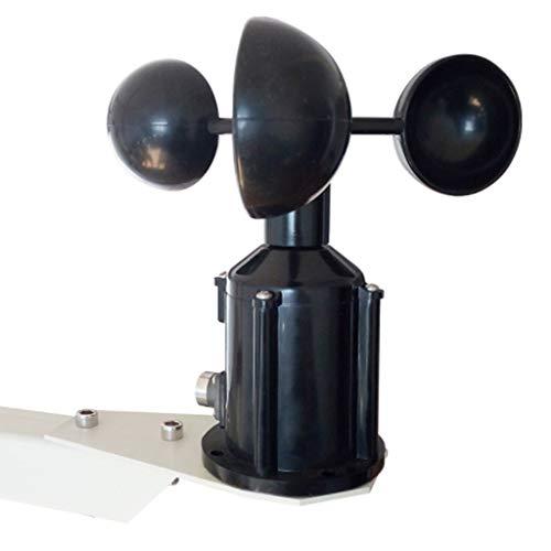 Zcyg Anemómetro Medidor Velocidad Viento 3 Copa del Sensor de Velocidad del Aire, Sensor de Velocidad del Viento Estación meteorológica transmisor ultrasónico de la fotocélula de Meteorología