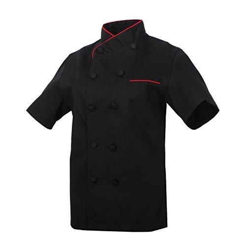 MISEMIYA - Chaquetas Chef Uniforme COCINERA MARMINTÓN SOLLASTRE GUISANDERO ADOBADOR Salsero- Ref.8441 - XXL, Negro