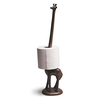 Comfify Standing Cast Iron Giraffe Decorative Paper Towel Holder Stand, Standing Toilet Tissue Holder Storage, For Paper Towels Or Toilet Paper