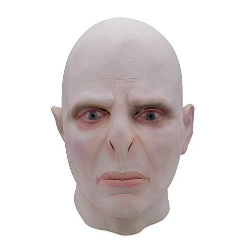 HAPPY & HOME Grote Baas Voldemort Masker Hoofddeksel, Halloween Latex Horror Enge Aankleden Masker, Party Prom Kostuum, Unisex Een Maat