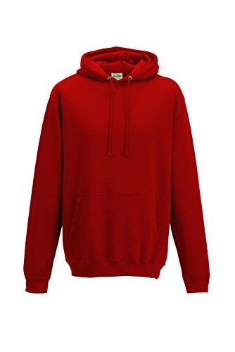 Just Hoods - Sweat-shirt à capuche - Homme - Rouge - Rouge sunset - XL