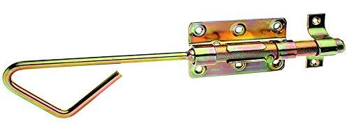 GAH-Alberts 129149 Bolzen-Stangenriegel mit befestigter Schlaufe, galvanisch gelb verzinkt, 320 x 100 mm