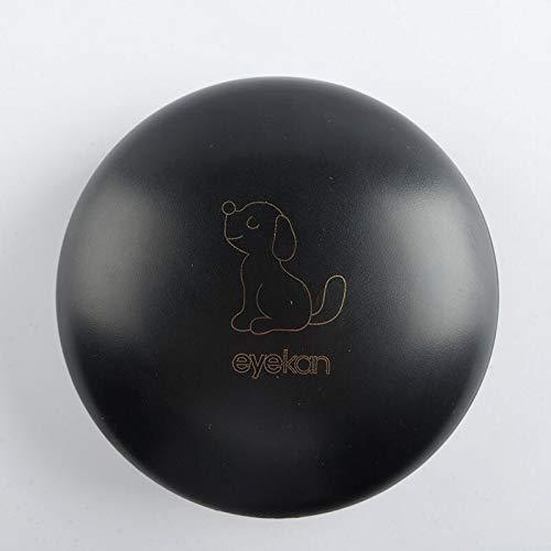 La Vue Kontaktlinsenbehälter HAUSTIERE Katze Hund Schwarz weiß Kontaktlinsen Behälter Reise mit Spiegel Mini Set Etui Aufbewahrungsbox Halter weiche Linsen harte Linsen (Schwarz-Hund)