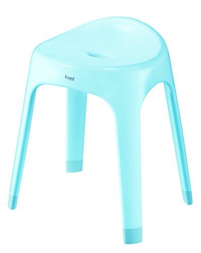 アスベル 風呂椅子 「Emeal」 高さ40cm Ag 抗菌 ブルー