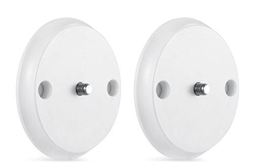 Supporto a parete per Nest Cam IQ – Monta la tua Nest Cam IQ con viti su ogni parete o usa il magnete ultra resistente per fissare la videocamera su ogni superficie metallica di Wasserstein (Bianco)