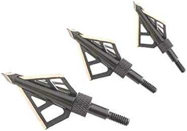 HME Fixed Blade Broadhead - 100 Miami Mall Grain Steel Pack 3 Tip Ranking TOP18