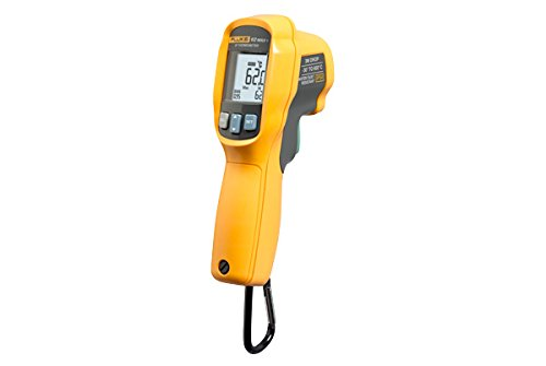 Fluke 62 MAX y funda - resistente al agua/polvo, resistente, pantalla LCD retroiluminada, funciona con pilas, 30 A 500 °C (932 -22 A Fahrenheit) infrarrojos (IR) termómetro PLUS protector, Dur