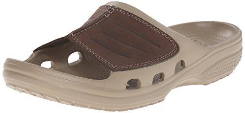 Crocs Yukon Mesa Slide, Herren Dusch- & Badeschuhe, Braun (Khaki/Espresso), 46/47 EU