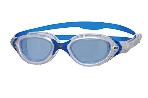 Zoggs Predator Flex Occhialini da Nuoto, Blu/Bianco