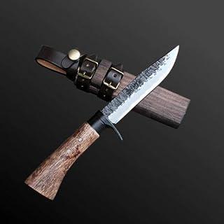 土佐鍛渓流刀115 両刃 土佐オリジナル白鋼 樫柄 木鞘 sorok-001