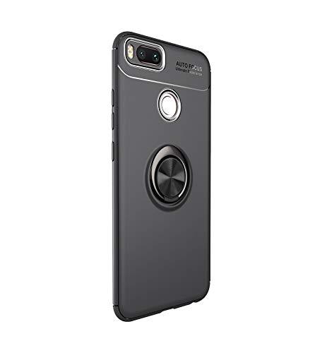 Funda Xiaomi Mi A1 Teléfono Móvil Silicona Bumper Case Funda con Anillo Giratorio de 360 Grados Rotaria Ring Holder Protectora Caso (4, Xiaomi Mi A1)