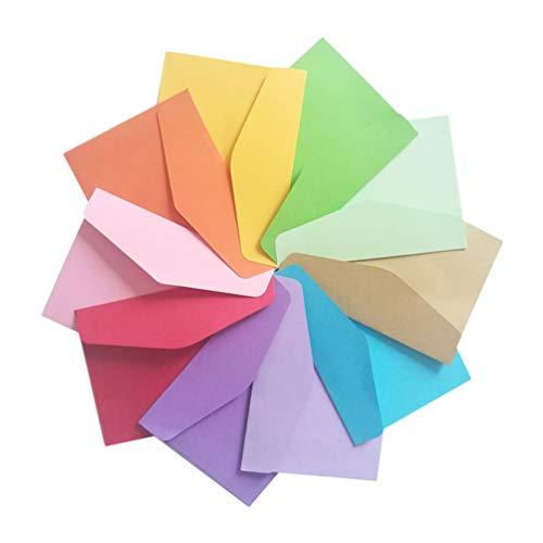NUOBESTY 160 st färgade papper kuvert presentkorthållare gratulationskort hållare för födelsedagens bröllopsfest fördelaktigt presentartiklar (slumpmässig färg)