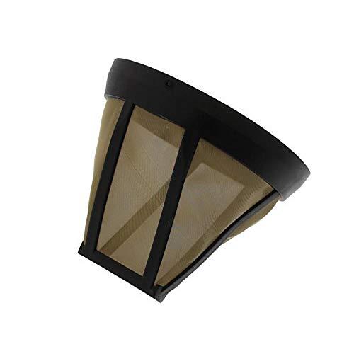 Universal tamaño 4Filtro de café permanente fabricada con larga duración Dorado Malla De Acero Inoxidable de Reemplazo de Filtros de papel
