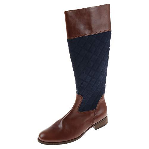 Gabor damesschoenen laarzen Jamaica schachtbreedte M zadel Ocean bruin blauw 7163610