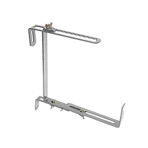 bellissa 2 Stück - Blumenkasten-Halterung – Haken für Blumenkästen – Balkonkasten-Befestigung - schwerastbar bis 30kg - 3-Fach verstellbar