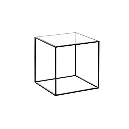 SZQ-Table Basse Mini Table Carrée Métal Multifonction Noir Petite Table Petit Appartement Salon Fleur Stand Table Basse Taille: 40 * 40 * 42CM Table de sofa (Size : 40 * 40 * 42CM)