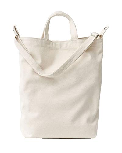 BAGGU Duck Bag Canvas Tote, Essential Tote, Spacious and Roomy, Canvas