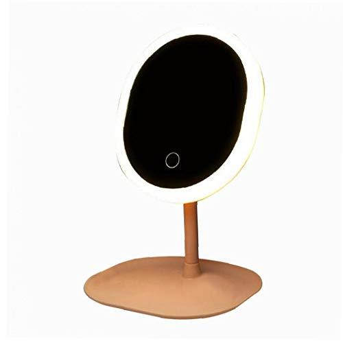 GGOOD 1PC Maquillaje Espejo LED Espejo de baño con luz de Control táctil de diseño Espejo de Aumento para el hogar compartida Instrumento de precisión