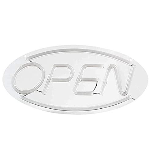 CHAOQUN Letrero abierto en neón, luz de señal abierta, 3D, con luz LED para tiendas, tiendas, bares, restaurantes, fiestas, hogar, salón