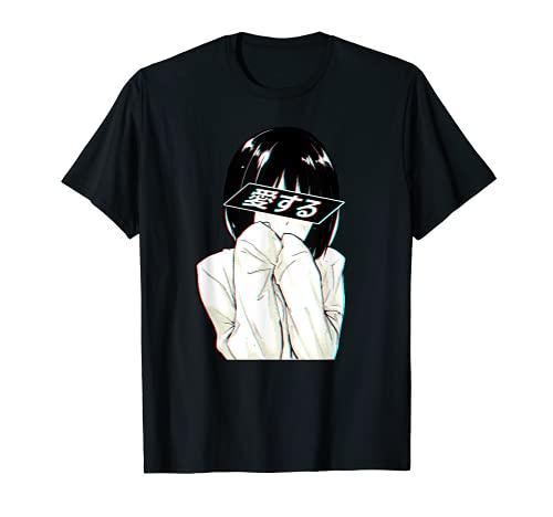 Sad Anime Girl Shirt | Trashy Waifu Clothing | Anime Girl