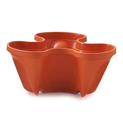 Suppyfly 3D Bloem Pot Aardbei Basin Multi-layer Superimposed Corrosion Resistant niet gemakkelijk vervormd Flower Pot Rood