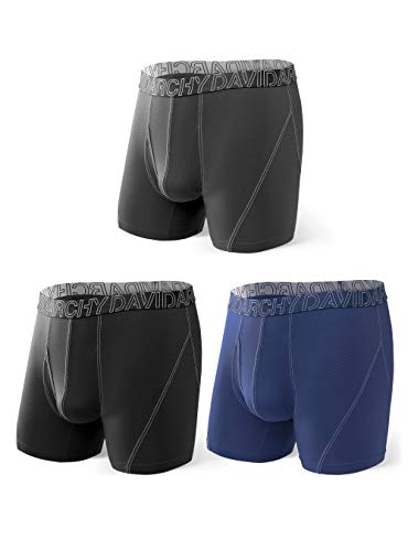 DAVID ARCHY 3 Pack Men's Ultra Soft Mesh Quick Dry Sports Underwear Breathable...