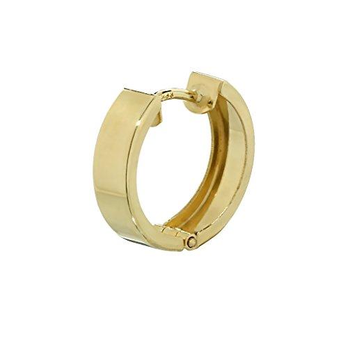NKlaus Einzel 333er 8 Karat Gold gelbgold Klappcreole Ohrring 15 x 3,9mm glänzend Quadratisch 4747