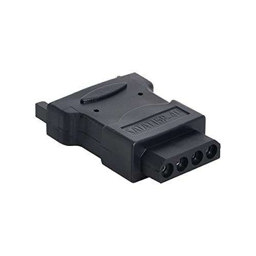 cablecc Cable de alimentación SATA Macho 15Pines a Molex 4Pines IDE Disco Duro Adaptador de alimentación