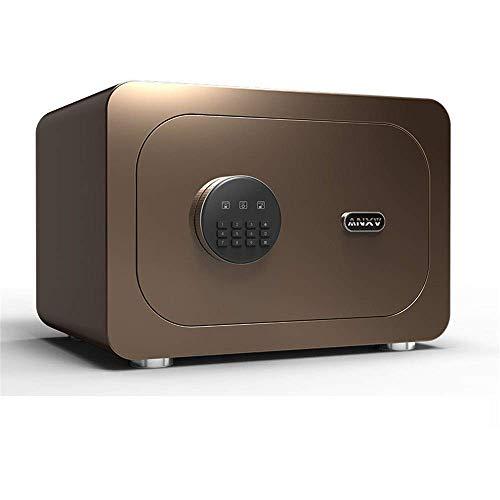 GAXQFEI Seguridad Safe Box Intelligent Home Security Office Security Mini Pequeña Huella Dactilar Contraseña 28 cm Alto Seguridad Cajas Fuertes Fácil de Instalar,Verde,28 * 30 * 40 cm