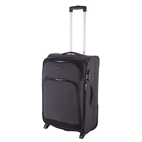 Rada Reisetrolley Rainbow T1/66cm   Koffer aus strapazierfähigem Polyester   71 Liter Volumen   Zahlenschloss   Zwei stabile Rollen   Maße (66 x 43 x 33 cm)