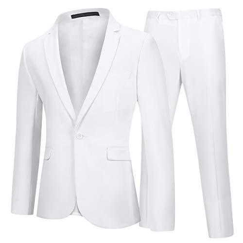 Traje de 2 Piezas para Hombre Trajes para Hombres Blazer y Pantalones 1 Botón Elegantes Vestir