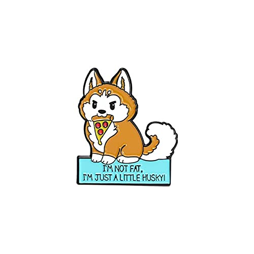 私に話さないでくださいカスタムフォックス柴犬ハムスターエナメルピン地球温暖化ブローチシャツ襟章