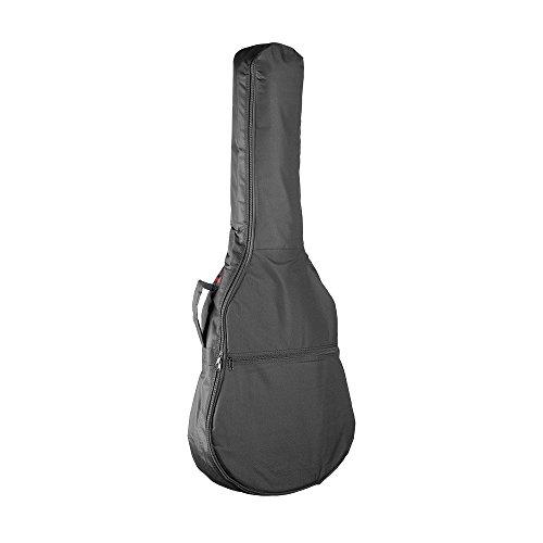 Stagg 21422 Nylontasche für 4/4 Konzertgitarre (5 mm dickes Schaumstoffpolsterung, 1x Außentasche für Zubehör, 2x Schultergurte) schwarz