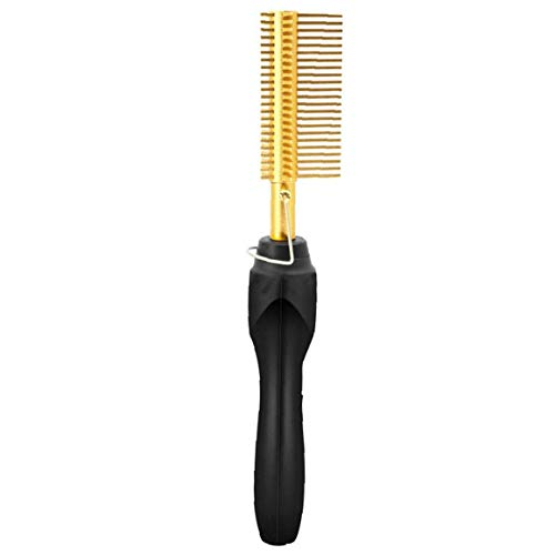 Heall Elektro-Haarglätter Curler Hot Elektroheizung Multifunktions-Nass trocken Kamm für Schwarzes Haar Style2 Körperpflege EU Plug