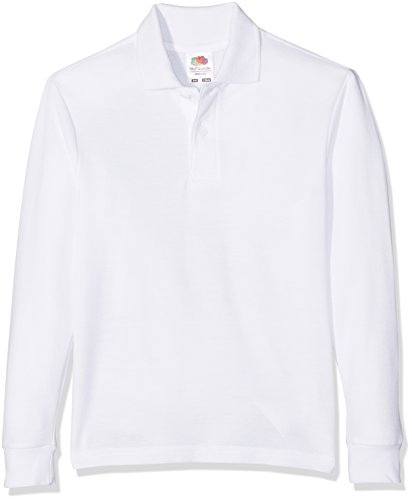 Fruit of the Loom - Polo - Homme - Blanc - Blanc - 12 ans