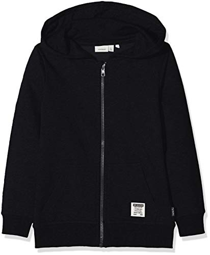 NAME IT Jungen Sweatjacke NKMHORAZ BRU SWE CARD WH NOOS Schwarz (Black), 134