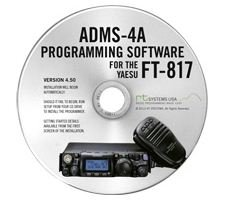 RT Systems Yaesu ADMS-4A Programming Software on CD with USB Computer Interface Cable for FT-817 & FT-817D