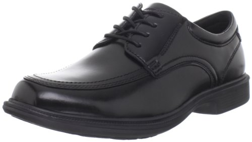 Nunn Bush Men's Bourbon Street Lace Up Oxford with KORE Slip Resistant Technology, Black, 10.5 Wide