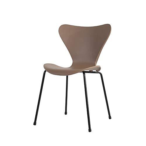 Ygetas Home Freizeit Rückenlehne Stuhl Einfaches Schlafzimmer Arbeitszimmer Schreibtisch Bürostuhl Schutzstuhl Füße Bequemer und langlebiger europäischer Stuhl Hotel Restaurant Cafe Lounge Chair